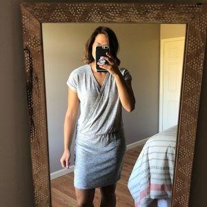 Lou & Grey Light Grey Heathered Casual Knit Dress